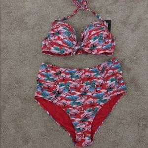636ee0e2259b2 Disney Swim - New Disney Mulan Swimsuit Retro Style Plus Size